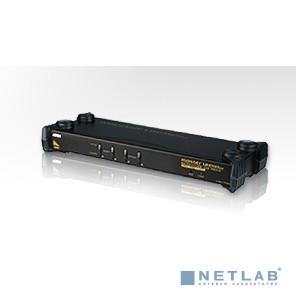 ATEN CS1754Q9 Переключатель, электрон., KVM+Audio,  1 user USB+VGA => 4 cpu PS2/USB+VGA, без шнуров, 2048x1536, 1U 19'', исп.спец.шнуры, OSD, каскад 64,