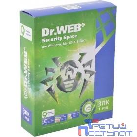 AHW-B-12M-3-A3 АКЦИЯ! Dr.Web Security Space, в картонной упаковке