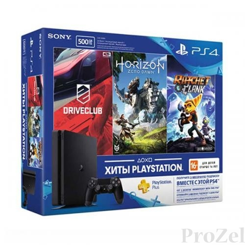 Sony PlayStation 4 500 Gb Slim (CUH-2108A) +HRZ+DC+R&C+PSN 3мес [ConPS449]
