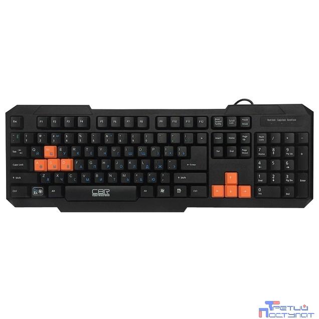 CBR KB 116 USB { Клавиатура игровая начального уровня, 106 кн. +1 доп., переключение языка 1й кнопкой (софт), 8 красных кнопок}