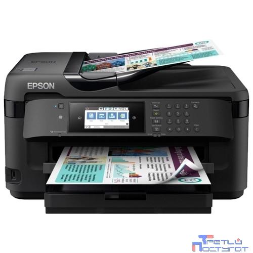 Epson WorkForce WF-7710DWF  C11CG36413   (А3+, 4 цвета,32/20 стр/мин ,Сканер: 1200x2400 dpi,Duplex A3 формата,ЖК-экран, диагональю 10,9 см.Слот для чтения карт памяти,лоток на 250 листов)