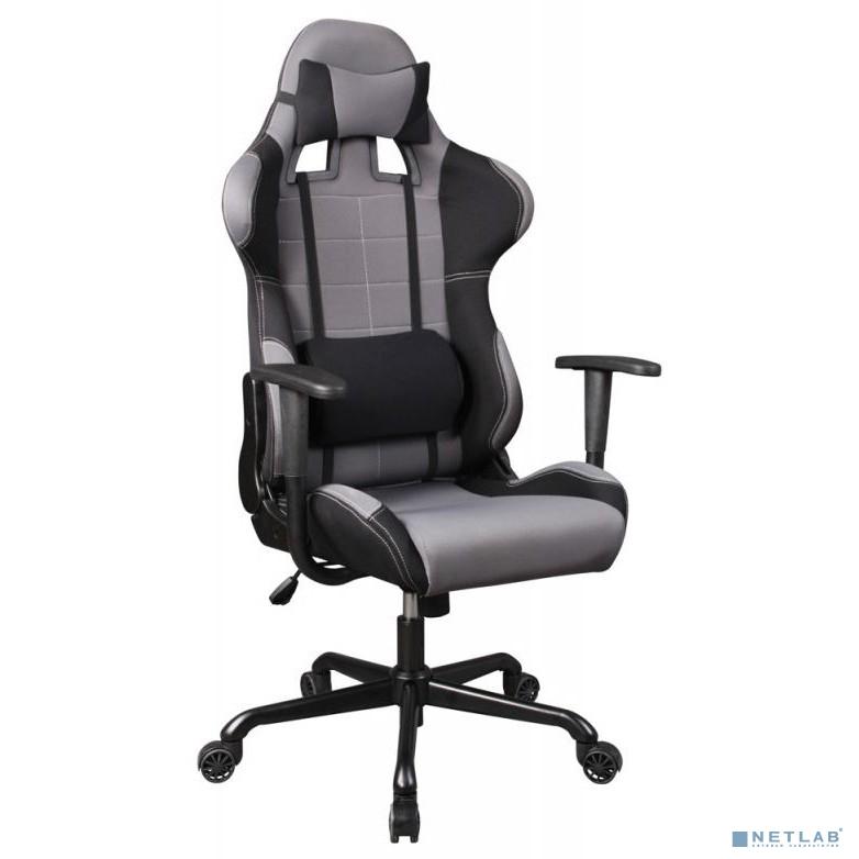 Кресло игровое Бюрократ 771/GREY+BL  (две подушки серый сиденье серый полиэтилен крестовина металл)