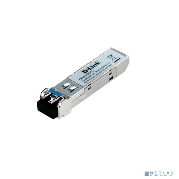 D-Link 312GT2/A1A Модуль SFP с 1 портом 1000Base-SX+ для многомодового оптического кабеля, питание 3,3В (до 2 км)