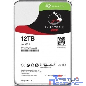 "12TB Seagate Ironwolf (ST12000VN0007) {SATA 6.0Gb/s, 7200 rpm, 256mb buffer, 3.5"",для NAS}"