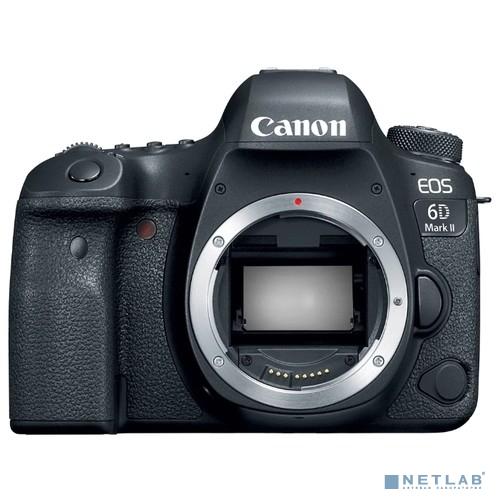 Canon EOS 6D Mark II черный 26.2Mpix 3'' 1080p Full HD SDXC Li-ion (без объектива)