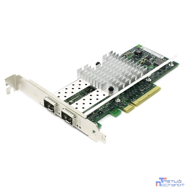 Контроллер 2-портовый Ethernet 10GbE CNA dual port Intel X520-DA2 (E10G42BTDABLK), PCIe 2.0 x8, 2xSFP+, LP