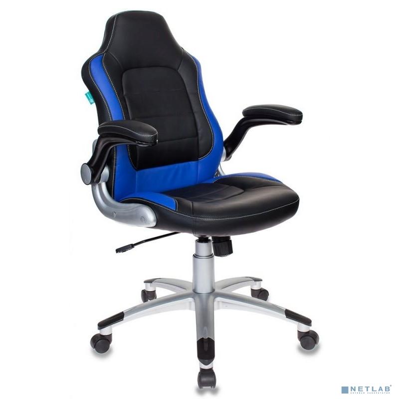 Кресло игровое Бюрократ VIKING-1/BL+BLUE черный/синий искусственная кожа [1007485]