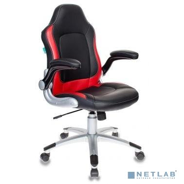 Кресло игровое Бюрократ VIKING-1/BL+RED черный/красный искусственная кожа