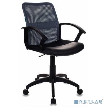 Кресло Бюрократ CH-590/DG/BLACK спинка сетка серый сиденье черный искусственная кожа