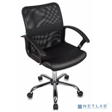 Кресло Бюрократ CH-590SL/BLACK спинка сетка черный сиденье черный искусственная кожа крестовина хром