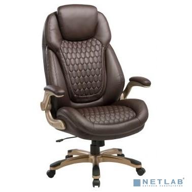 Кресло руководителя Бюрократ T-9917A/BROWN коричневый рец.кожа/кожзам