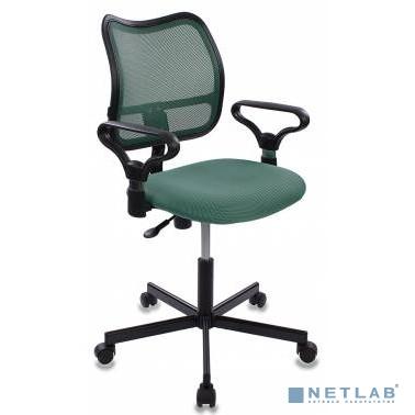 Кресло Бюрократ CH-799M/GR/TW-30 спинка сетка зеленый сиденье зеленый TW-30 крестовина металл