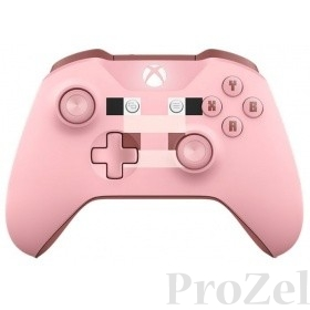 Microsoft MINECRAFT PIG Геймпад Беспроводной, для  Xbox One, розовый [WL3-00053]