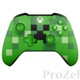 Microsoft Minecraft Creeper, Геймпад Беспроводной для  Xbox One, зеленый [WL3-00057]