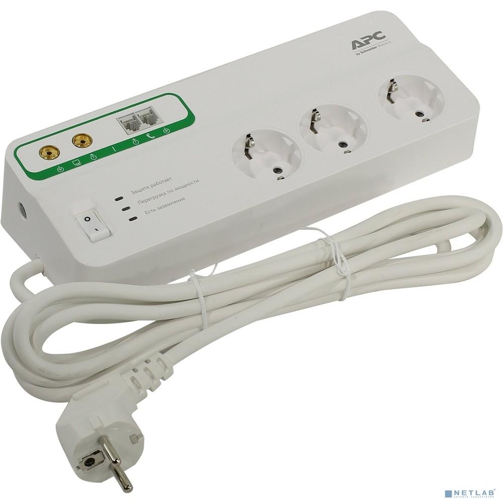 APC PMH63VT-RS сетевой фильтр 3м, белый