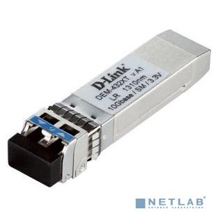 D-Link 432XT/A1A   PROJ SFP-трансивер с 1 портом 10GBase-LR с поддержкой DDM для одномодового оптического кабеля (до 10 км)