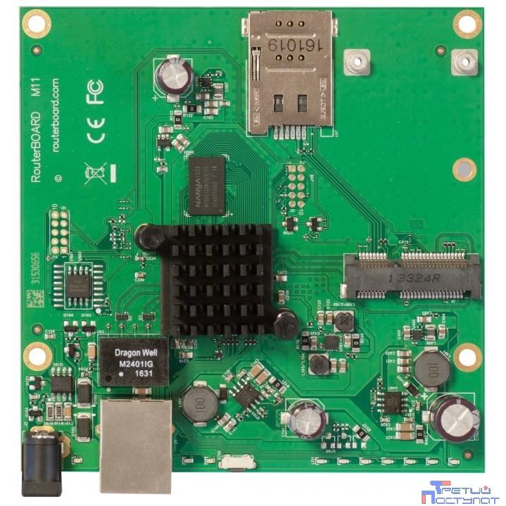 MikroTik RBM11G Плата, 2x 880 МГц, 1G Ethernet, miniPCIe, SIM, PoE, Jack