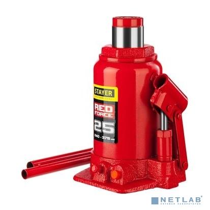 Домкрат гидравлический бутылочный ''RED FORCE'', 25т, 240-375 мм, STAYER 43160-25 [43160-25_z01]