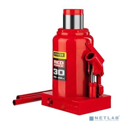 Домкрат гидравлический бутылочный ''RED FORCE'', 30т, 285-465 мм, STAYER 43160-30 [43160-30_z01]