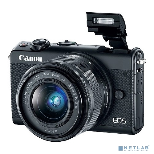 Canon EOS M100 черный {24.2Mpix 3'' 1080p WiFi 15-45 IS STM LP-E12}