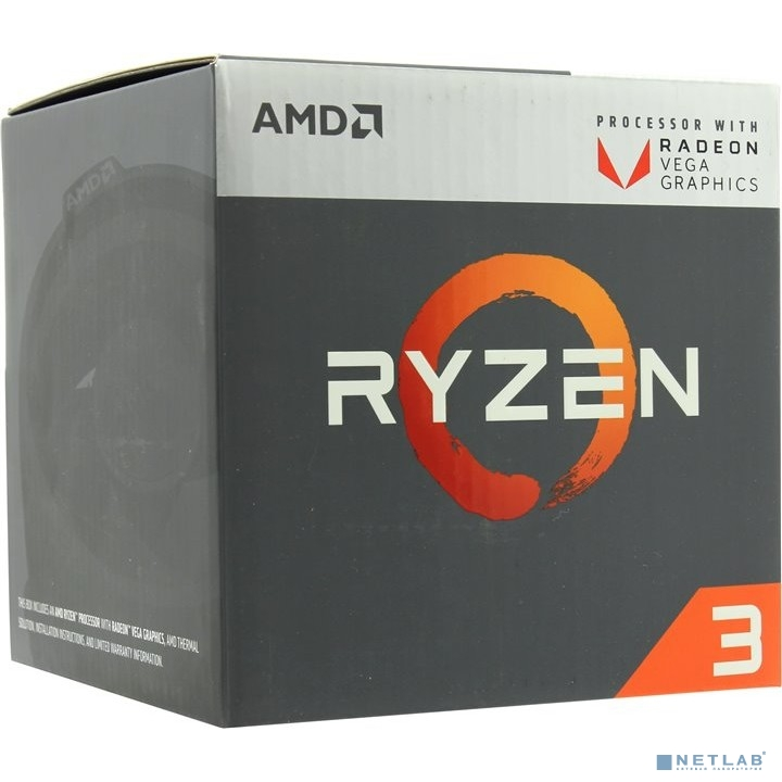 CPU AMD Ryzen 3 2200G BOX {3.5-3.7GHz, 4MB, 65W, AM4, RX Vega Graphics}