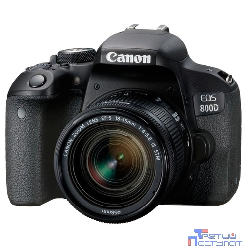 Canon EOS 800D черный {24.2Mpix EF-S 18-55mm f/4-5.6 IS STM 3