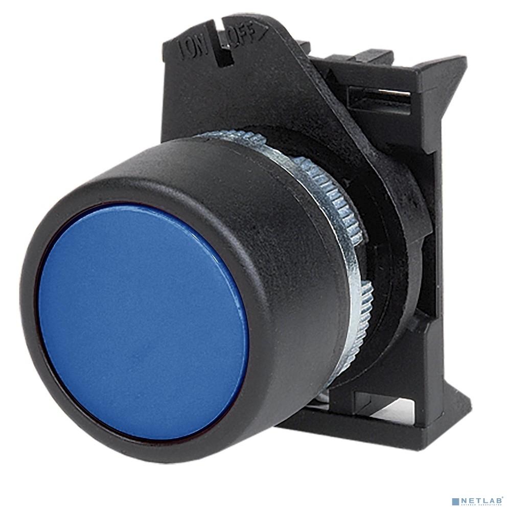 Dkc ABDLM4 Кнопка плоская прозрачная с  фиксацией, синяя