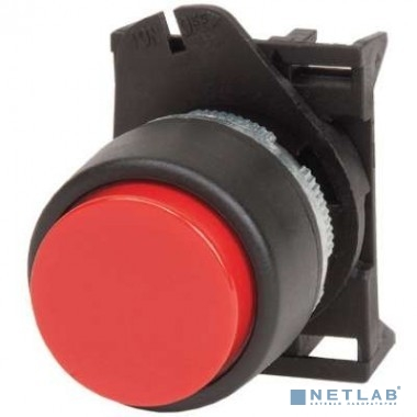 Dkc ABDTR1C Кнопка выпуклая без фиксации, красная - серия Хром
