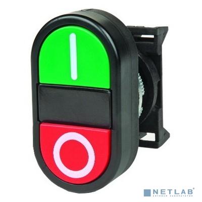 Dkc ABFTM Кнопка двойная плоская, черная