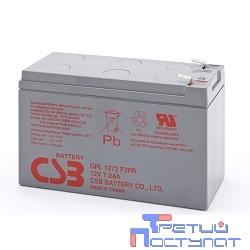 CSB Батарея GPL1272 (12V 7Ah  F2) (с увеличенным сроком службы 10лет))