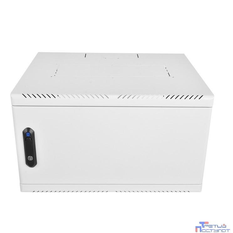 ЦМО! Шкаф телеком. настенный 6U (600х480) дверь металл (ШРН-6.480.1) (1 коробка)