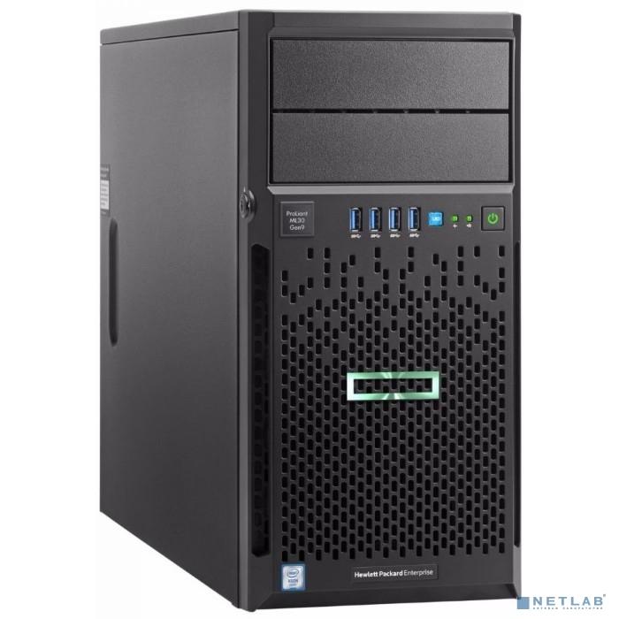 Сервер HPE ProLiant ML30 Gen9, 1x E3-1230v6 4C 3.5GHz, 1x8Gb-U, B140i/ZM (RAID 1+0/5/5+0) noHDD (4 LFF 3.5'' HP) 1x460W (up2), 2x1Gb/s, DVDRW, iLO5, Tower-4U, 3-1-1 (P03706-425)