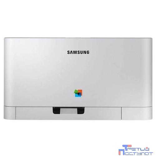 Samsung SL-C430 Цветной лазерный принтер  (A4, 18/4 стр./мин, 2400x600dpi, 64Мб, SPL-C, USB, лоток 150листов) SS229F