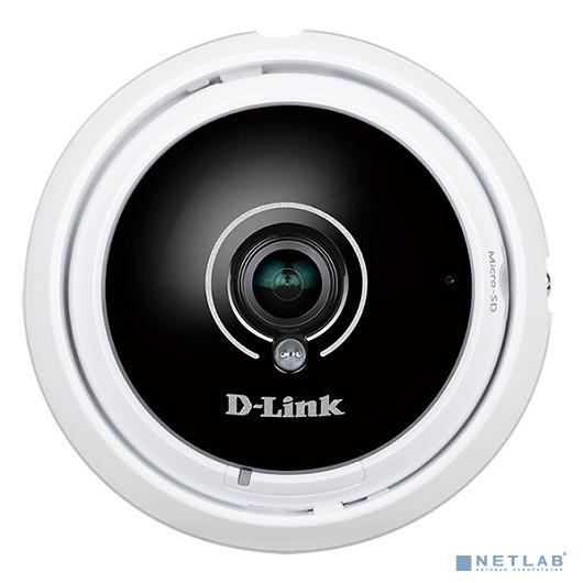 D-Link DCS-4622/UPA/A1A 3 Мп купольная сетевая камера с объективом Fisheye 360?, день/ночь, c ИК-подсветкой до 8 м, PoE, WDR и слотом для карты microSD