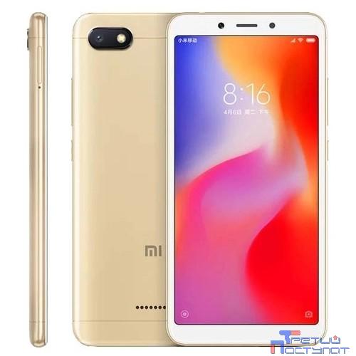 Xiaomi Redmi 6A 2Gb/16Gb Gold {5.45'' (1440х720)IPS/MediaTek Helio A22/16Gb/2Gb/3G/4G/13MP+5MP/Android}  Global