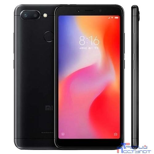 Xiaomi Redmi 6 3GB/32GB Black {5.45'' (1440х720)IPS/Mediatek MT6762/32Gb/3Gb/3G/4G/12MP+5MP/Android}