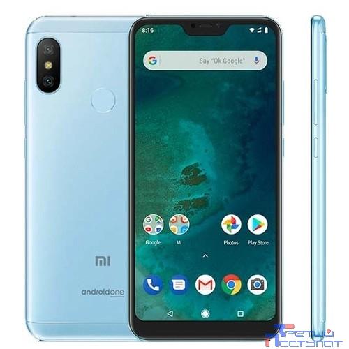 Xiaomi Mi A2 Lite 3GB+32GB Blue {5.84'' (2280x1080)IPS/Snapdragon 625/32Gb/3Gb/3G/4G/12MP+5MP/Android 8.1}