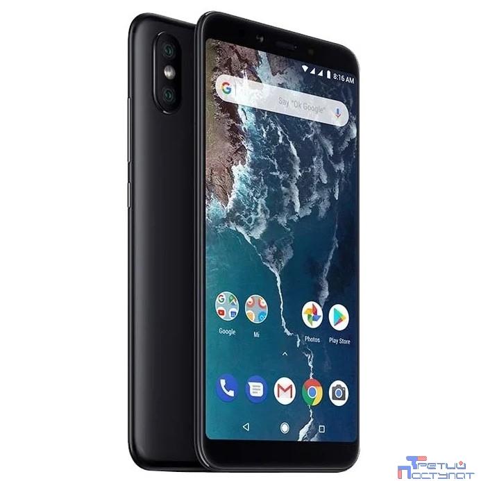 Xiaomi Mi A2 4GB+64GB Black {5.99'' (2160x1080)IPS/Snapdragon 660/64Gb/4Gb/3G/4G/20MP/20MP+12MP/Android 8.1}