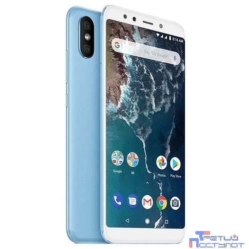 Xiaomi Mi A2 4GB+64GB Blue {5.99'' (2160x1080)IPS/Snapdragon 660/64Gb/4Gb/3G/4G/20MP/20MP+12MP/Android 8.1}