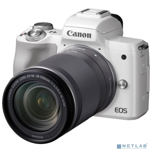 Canon EOS M50 белый {24.1Mpix 3'' 4K WiFi 15-45 IS STM LP-E12}