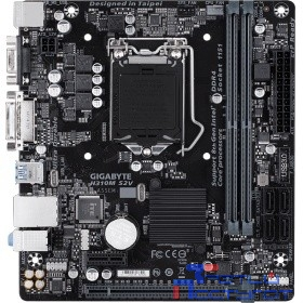 Gigabyte H310M S2V (2.0) RTL {S1151, H310, 2xDDR4, PCI-Ex16, PCI-Ex1, D-Sub, DVI, SATA III, GB Lan, USB3.1, mATX}