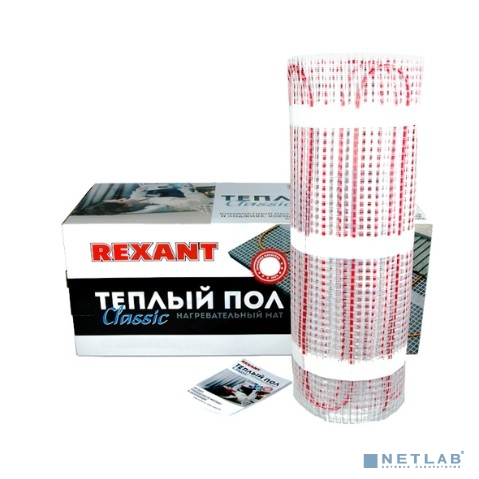 Rexant 51-0512-2 Тёплый пол (нагревательный мат) Classic RNX -7,0-1050 (площадь 7,0 м2 (0,5 х 14,0 м)), 1050 Вт, двухжильный с экраном