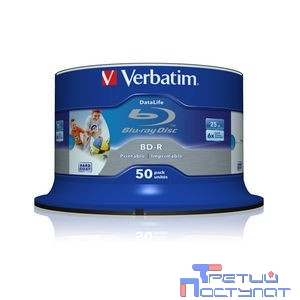Verbatim BD-R 25 GB 6x CB/50 Full Ink Print NO ID (43812)