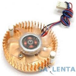 Gembird Вентилятор для видеокарт VC-RE,  3pin/4pin (медн.радиатор, подсветка)