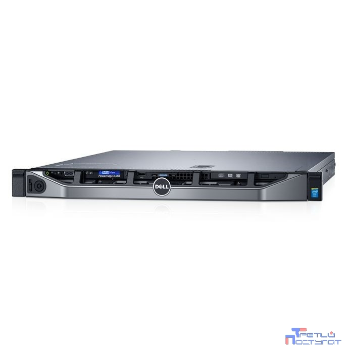 Сервер Dell PowerEdge R330 1xE3-1230v6 (3.5GHz, 4C), No Memory, No HDD, (up to 8x2.5