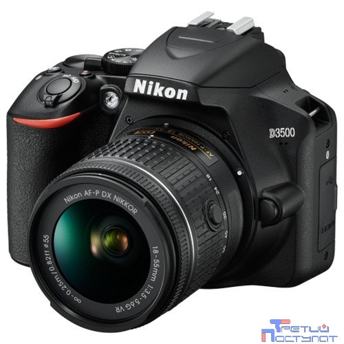 Nikon D3500 черный 24.2Mpix 18-55mm f/3.5-5.6 VR AF-P 2.9