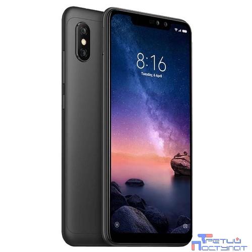 Xiaomi Redmi Note 6 Pro Black 4Gb/64Gb {6.26'' (2280x1080)IPS/Snapdragon 636/64Gb/4Gb/3G/4G/20MP/2MP+12MP/5MP/Android 8.1} [M1806E7TG]