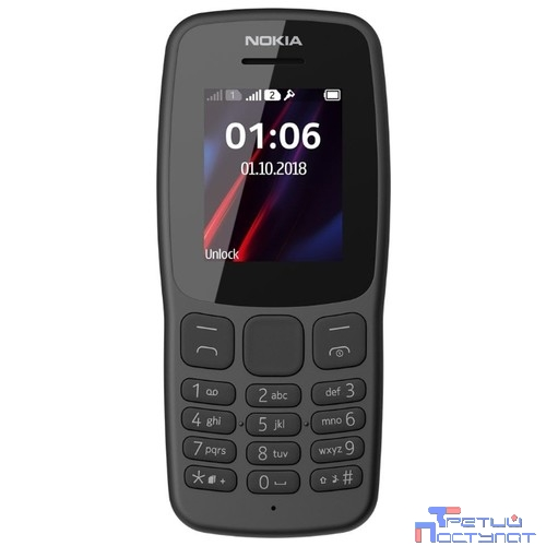 NOKIA 106 DS TA-114 GREY [16NEBD01A02]