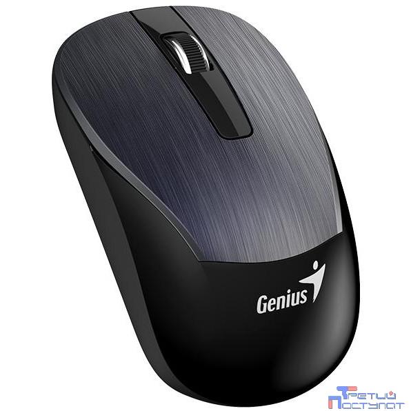 Genius ECO-8015 Iron Gray, 2.4Ghz, датчик Blue Eye, 800-1600 dpi  [31030005402]