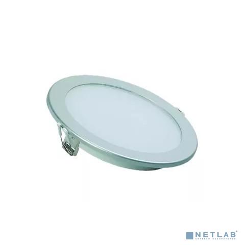 Iek LDVO0-1606-1-12-K23 Светильник ДВО 1606 серебро круг LED 12Вт 4000 IP20 {алюм. корпус, диам 170 мм}